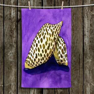 Unique Hanging Tea Towels   Marley Ungaro - Junonia   Ocean seashell still life nature