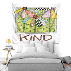 Artistic Wall Tapestry | Marley Ungaro - Kind Flowers | Floral Inspiration