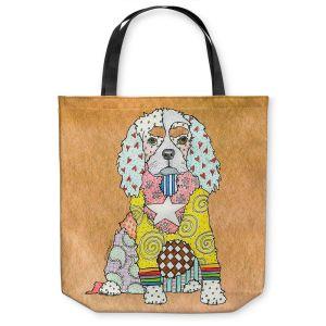 Unique Shoulder Bag Tote Bags |Marley Ungaro - King Charles Spaniel Tan
