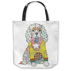 Unique Shoulder Bag Tote Bags |Marley Ungaro - King Charles Spaniel White