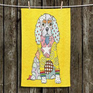 Unique Bathroom Towels | Marley Ungaro - King Charles Spaniel Yellow