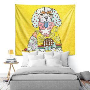 Artistic Wall Tapestry | Marley Ungaro - King Charles Spaniel Yellow