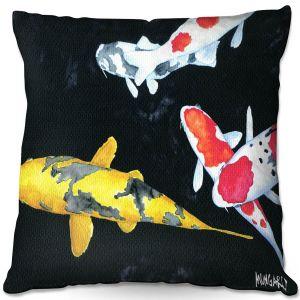 Decorative Outdoor Patio Pillow Cushion | Marley Ungaro - Koi 3 | Koi Fish