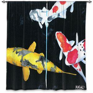 Decorative Window Treatments | Marley Ungaro - Koi 3 | Koi Fish