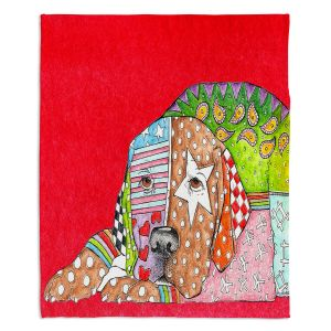 Artistic Sherpa Pile Blankets | Marley Ungaro Labrador Retriever Dog Red