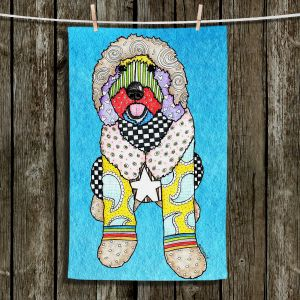 Unique Bathroom Towels | Marley Ungaro - Labradoodle Dog Aqua
