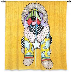 Decorative Window Treatments | Marley Ungaro Labradoodle Dog Gold
