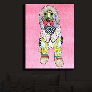 Nightlight Sconce Canvas Light | Marley Ungaro - Labradoodle Dog Light Pink