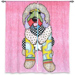 Decorative Window Treatments | Marley Ungaro Labradoodle Dog Light Pink