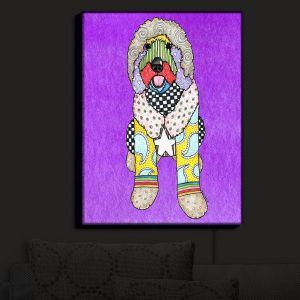 Nightlight Sconce Canvas Light | Marley Ungaro - Labradoodle Dog Purple