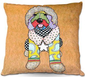 Throw Pillows Decorative Artistic | Marley Ungaro Labradoodle Dog Tan