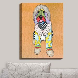 Decorative Canvas Wall Art   Marley Ungaro - Labradoodle Dog Tan