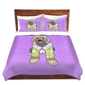 Artistic Duvet Covers and Shams Bedding | Marley Ungaro - Labradoodle Dog Violet