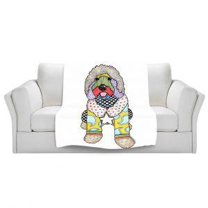 Artistic Sherpa Pile Blankets | Marley Ungaro Labradoodle Dog White