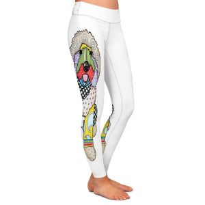 Casual Comfortable Leggings | Marley Ungaro Labradoodle Dog White
