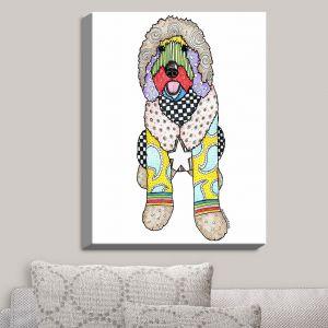 Decorative Canvas Wall Art   Marley Ungaro - Labradoodle Dog White