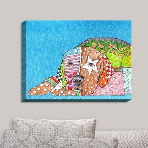 Decorative Canvas Wall Art | Marley Ungaro - Labrador Retriever Dog Aqua