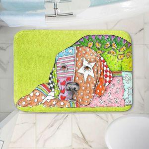 Decorative Bathroom Mats | Marley Ungaro - Labrador Retriever Dog Lime