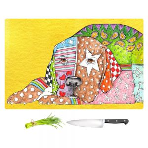 Artistic Kitchen Bar Cutting Boards | Marley Ungaro - Labrador Retriever Dog Yellow