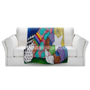 Artistic Sherpa Pile Blankets   Marley Ungaro - Lazy Tabby Cat   kitten collage pattern quilt