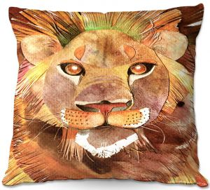 Decorative Outdoor Patio Pillow Cushion | Marley Ungaro - Lion