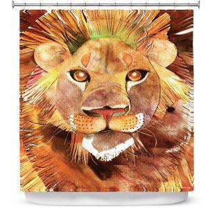 Premium Shower Curtains | Marley Ungaro Lion