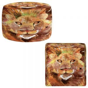 Round and Square Ottoman Foot Stools | Marley Ungaro - Lion