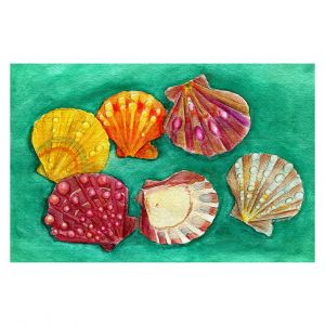 Decorative Floor Covering Mats | Marley Ungaro - Lionpaw Scallops | Ocean seashell still life nature