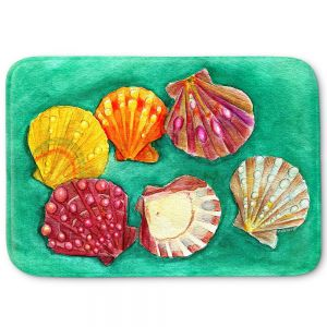 Decorative Bathroom Mats | Marley Ungaro - Lionpaw Scallops | Ocean seashell still life nature