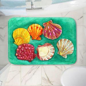 Decorative Bathroom Mats | Marley Ungaro - Lionpaw Scallops | Ocean seashell still life nature
