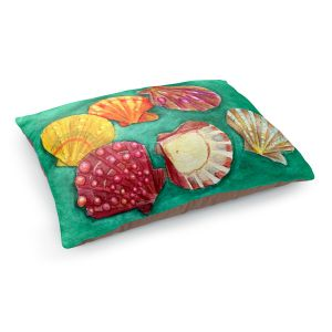 Decorative Dog Pet Beds | Marley Ungaro - Lionpaw Scallops | Ocean seashell still life nature