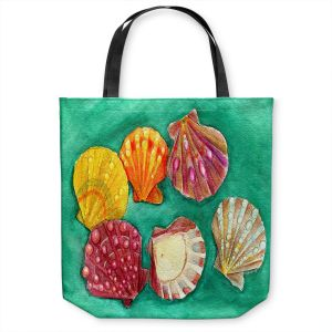 Unique Shoulder Bag Tote Bags | Marley Ungaro - Lionpaw Scallops | Ocean seashell still life nature