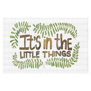 Decorative Floor Covering Mats | Marley Ungaro - Little Things | Text typography words