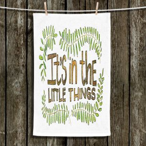 Unique Hanging Tea Towels | Marley Ungaro - Little Things | Text typography words