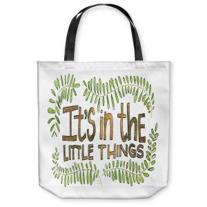 Unique Shoulder Bag Tote Bags | Marley Ungaro - Little Things | Text typography words