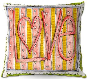 Decorative Outdoor Patio Pillow Cushion | Marley Ungaro - Love