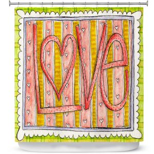 Premium Shower Curtains | Marley Ungaro - Love