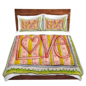 Artistic Duvet Covers and Shams Bedding | Marley Ungaro - Love