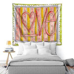 Artistic Wall Tapestry | Marley Ungaro - Love