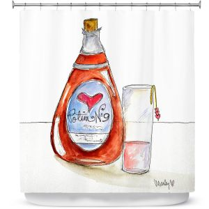 Premium Shower Curtains | Marley Ungaro Love Potion No. 9