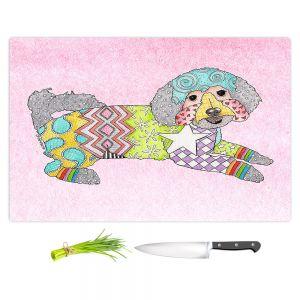Artistic Kitchen Bar Cutting Boards | Marley Ungaro - Maltipoo Pastel Pink