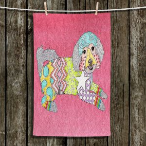 Unique Bathroom Towels | Marley Ungaro - Maltipoo Pink