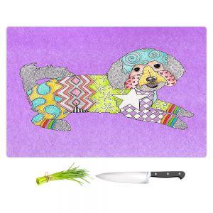 Artistic Kitchen Bar Cutting Boards | Marley Ungaro - Maltipoo Violet