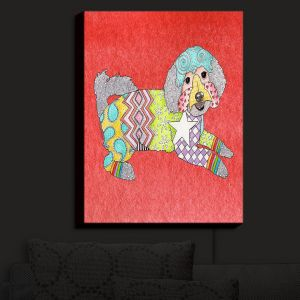 Nightlight Sconce Canvas Light | Marley Ungaro - Maltipoo Watermelon | Dog Dogs Animals Pets Colorful Funky Maltipoo