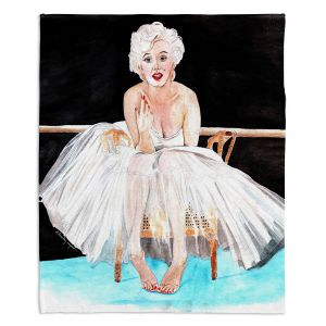 Decorative Fleece Throw Blankets | Marley Ungaro - Marilyn Ballerina