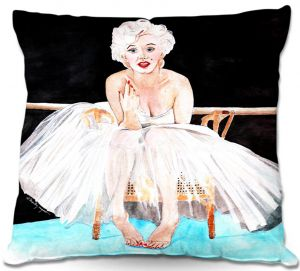 Decorative Outdoor Patio Pillow Cushion | Marley Ungaro - Marilyn Ballerina