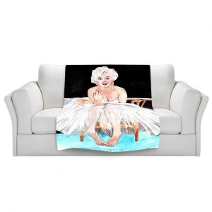 Artistic Sherpa Pile Blankets | Marley Ungaro Marilyn Ballerina