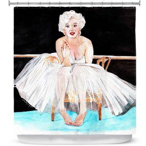 Premium Shower Curtains | Marley Ungaro Marilyn Ballerina