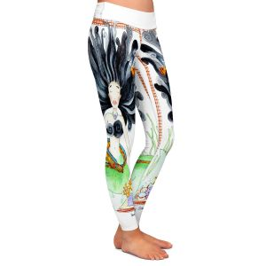 Casual Comfortable Leggings | Marley Ungaro Meditating Mermaid