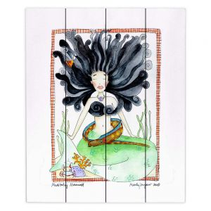 Decorative Wood Plank Wall Art | Marley Ungaro Meditating Mermaid